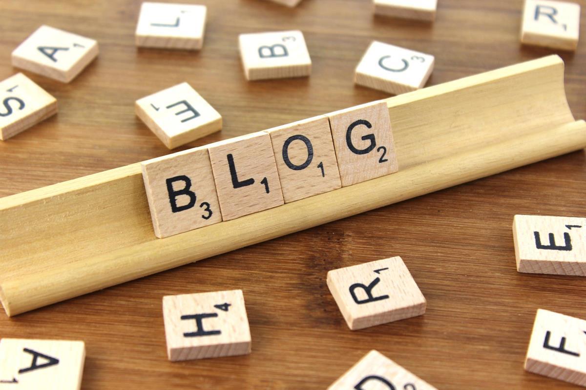 Blog in Scrabble Tiles