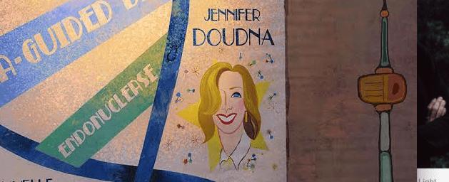 Cartoon of Jennifer Doudna