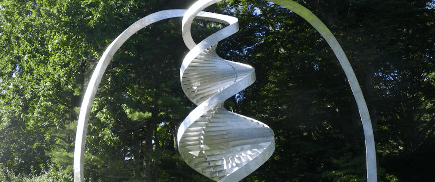 Metal Sculpture of DNA