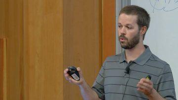 Michael Collingwood giving a talk