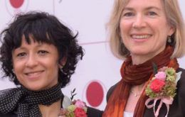 Jennifer Doudna and Emanuelle Charpentier at Japan Prize 2017