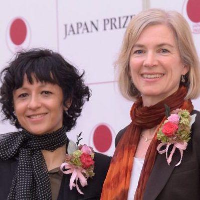 Jennifer Doudna and Emanuelle Charpentier at Japan Prize 2017