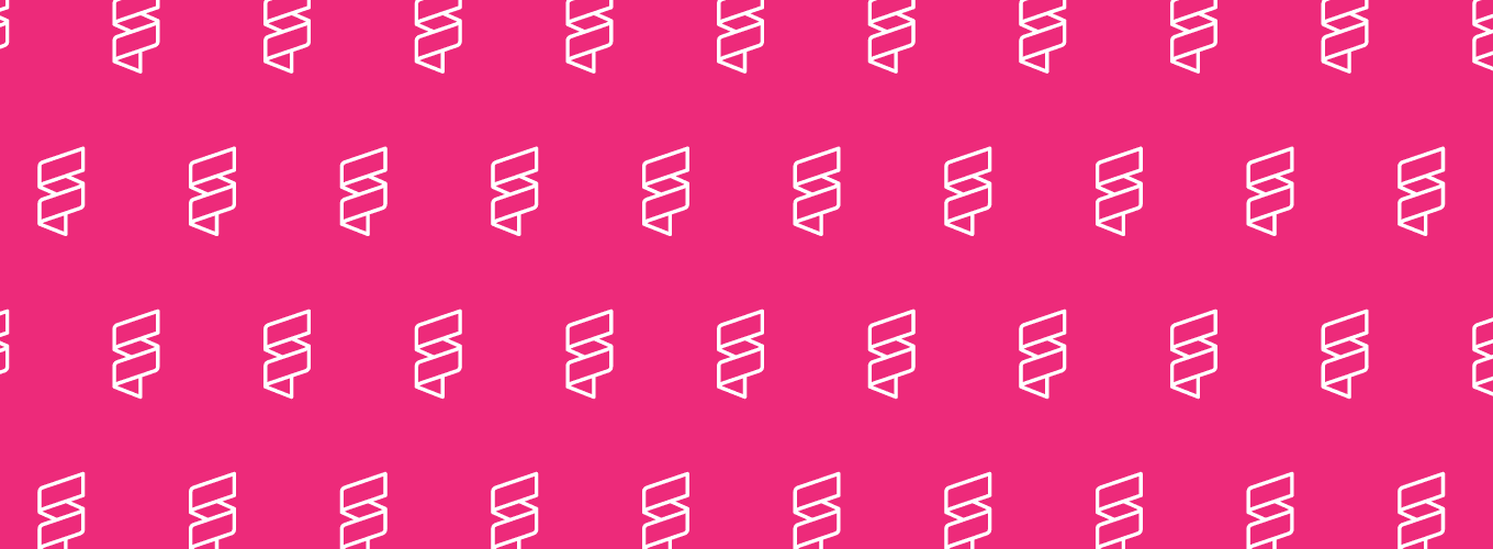 White IGI logo repeating on a pink background