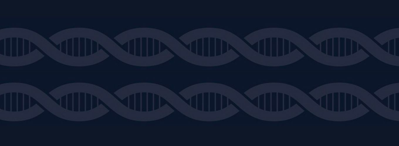 CRISPRcon event page image with two helices of muted DNA on a blue background