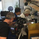 NBC's Keith Morrison is filmed checking out the IGI's latest plant gene editing work with Myeong-Je Cho at UC Berkeley