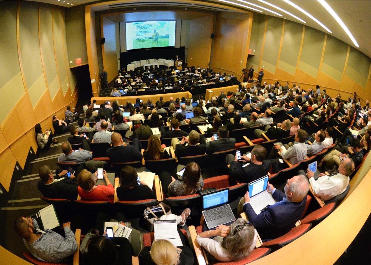 A full auditorium during CRISPRcon