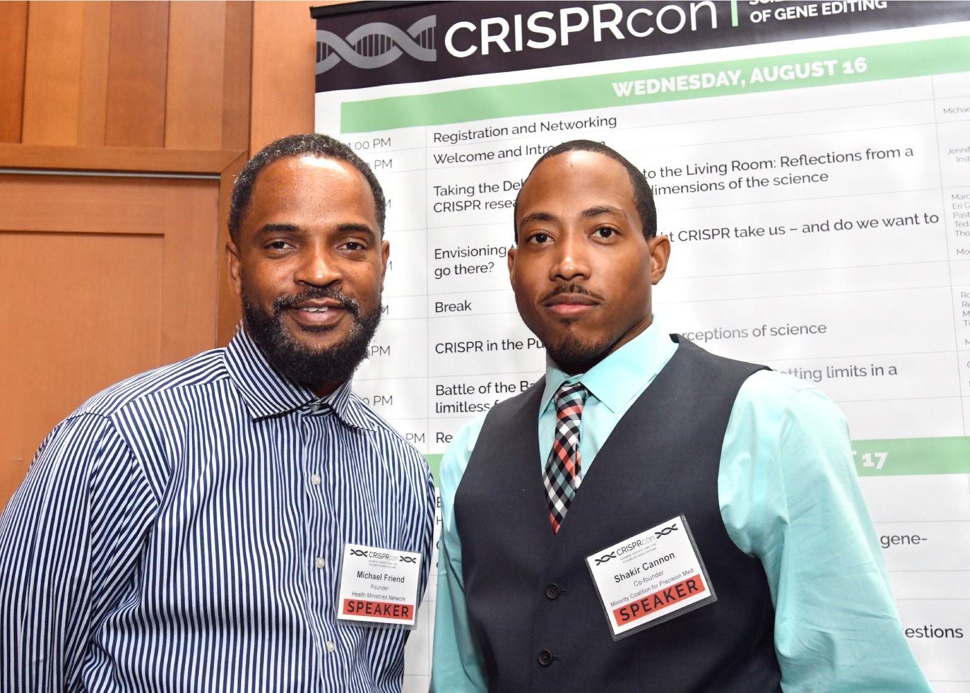 Michael Friend and Shakir Cannon during CRISPRcon