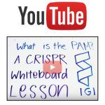Youtube logo above whiteboard with words written
