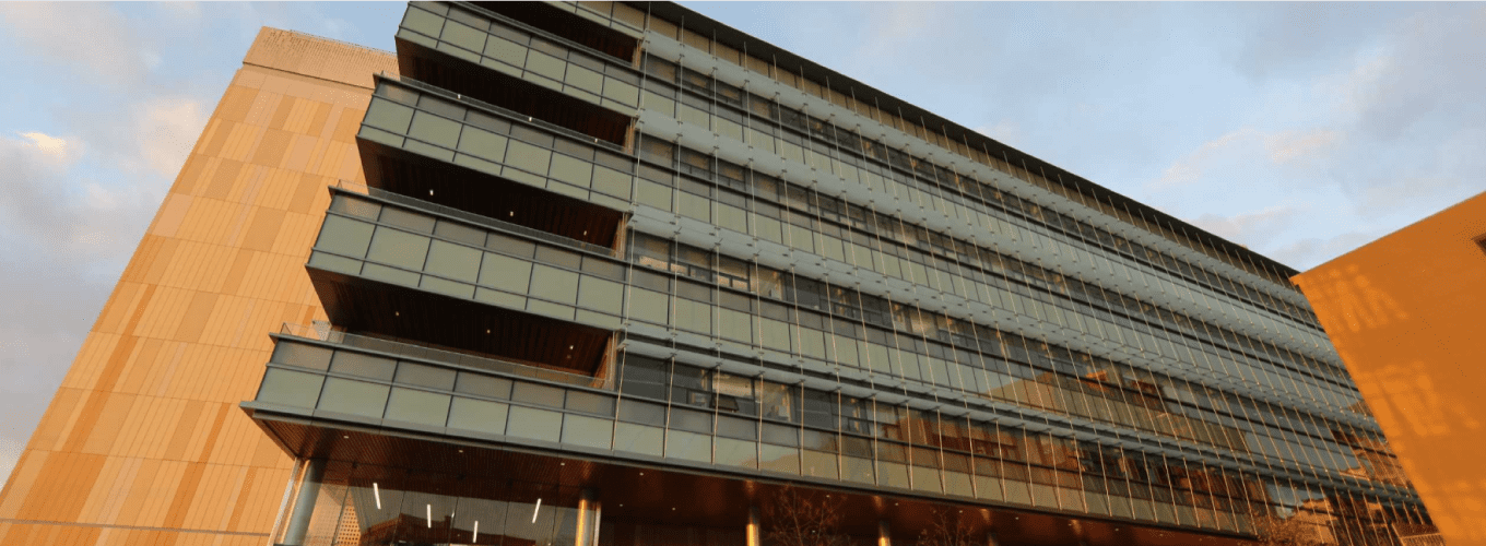 The outside of the Energy Biosciences Building