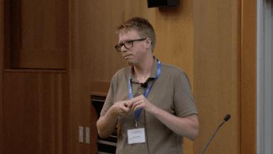 Luke Gilbert speaking at CRISPR Workshop 2017