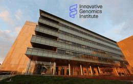 Outside of Energy Biosciences Building with IGI logo above