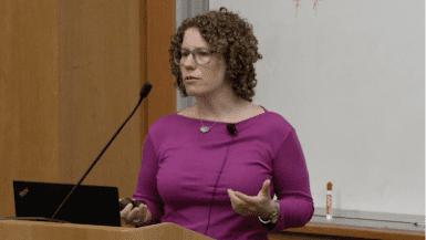 Jennifer Listgarten speaking at CRISPR Workshop 2017