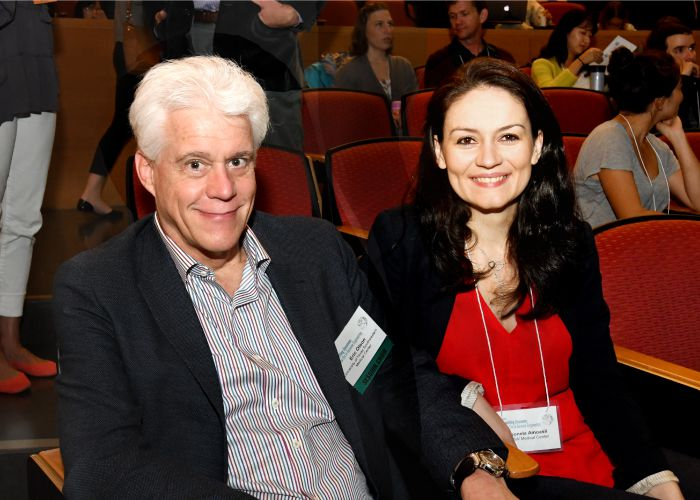 Eric Olson and Leonela Amoasii at the Rewriting Genomes Symposium