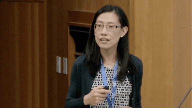 Joanna Yeh speaking at CRISPR workshop
