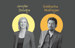 Images of Jennifer Doudna and Sid Mukherjee with their names noted