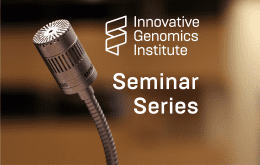 Image of a microphone with text that says Seminar Series