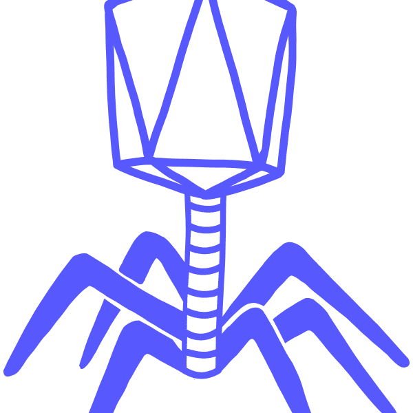 Image of a blue phage