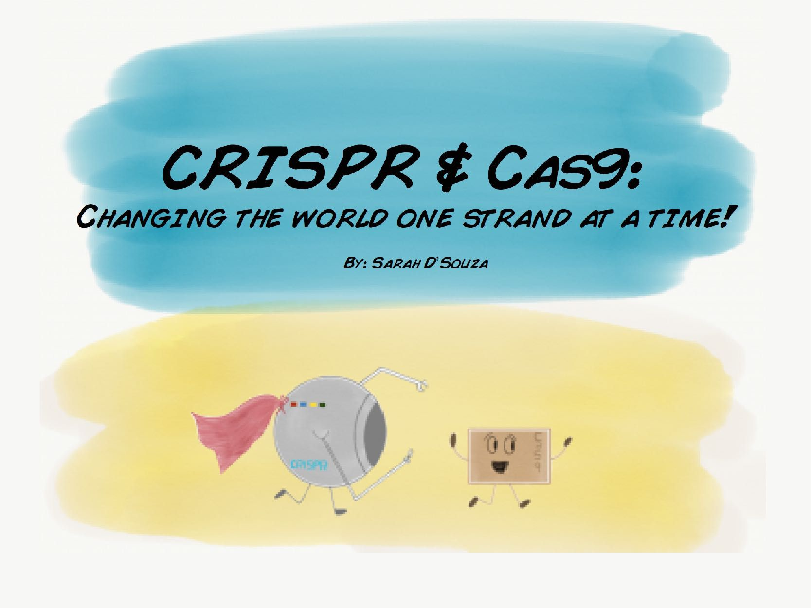 Cover of a student's book on CRISPR-Cas9