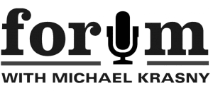 Logo of the radio series Forum with Michael Krasny