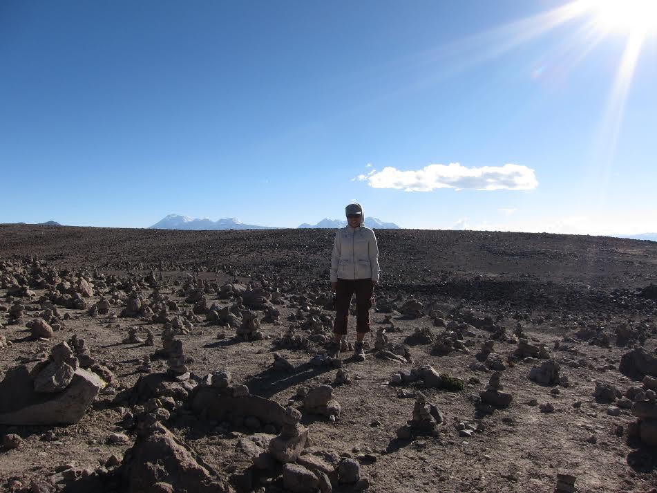 Benny Julissa Ordonez Aquino in the desert