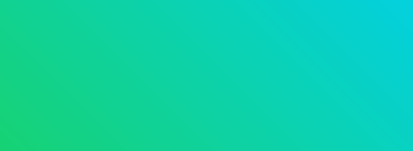 Gradient of color from blue to green