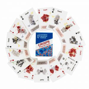 CRISPR playing cards arranged in a circle