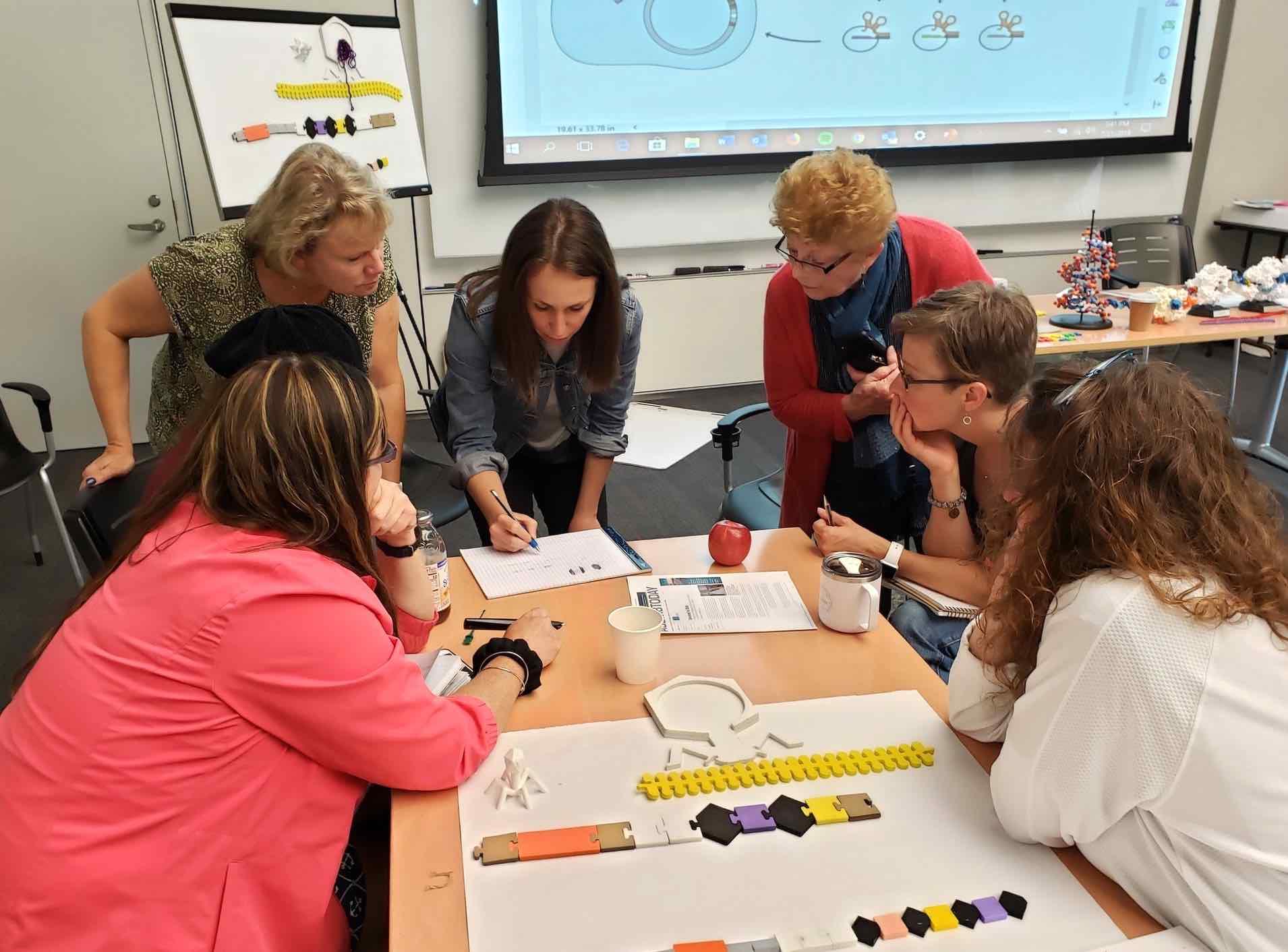 Megan Hochstrasser and teachers during the MSOE workshop