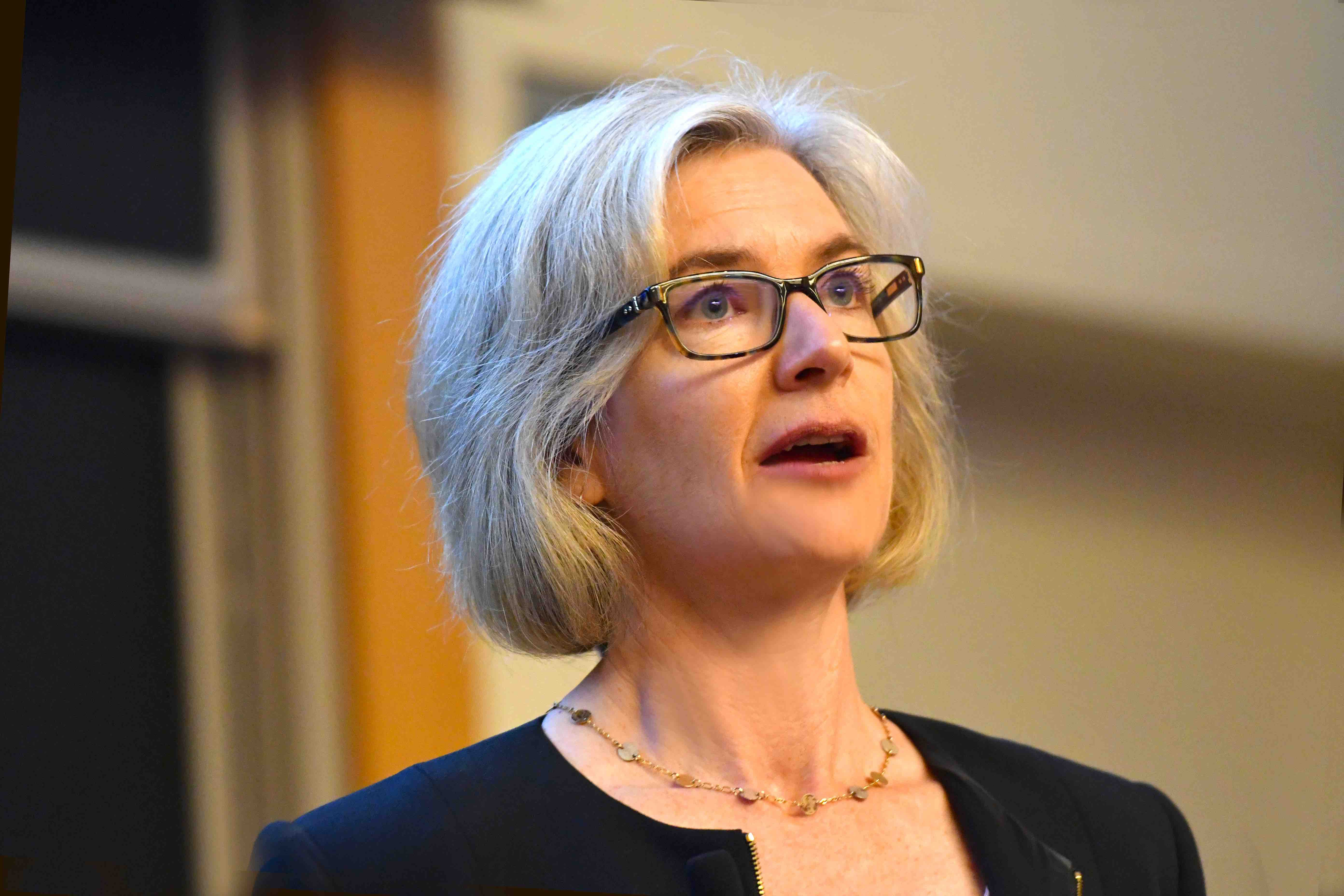 Jennifer Doudna speaking at a conference