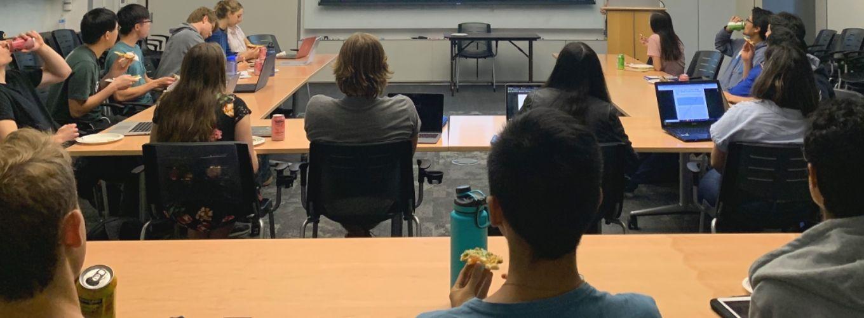undergrads in a classroom