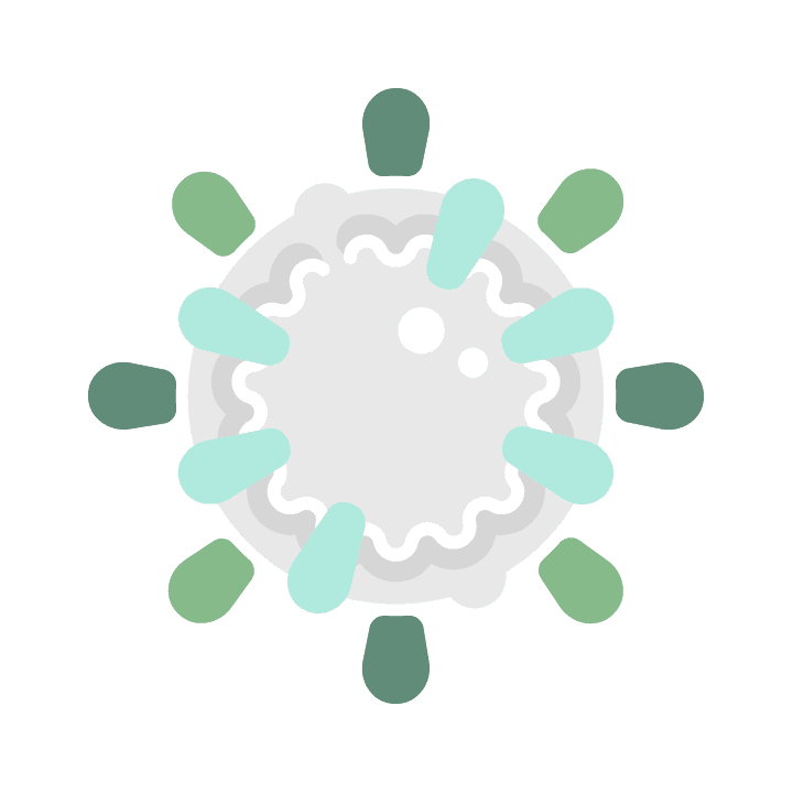 Free COVID-19 illustrations, SARS-CoV-2 virus abstract green RNA