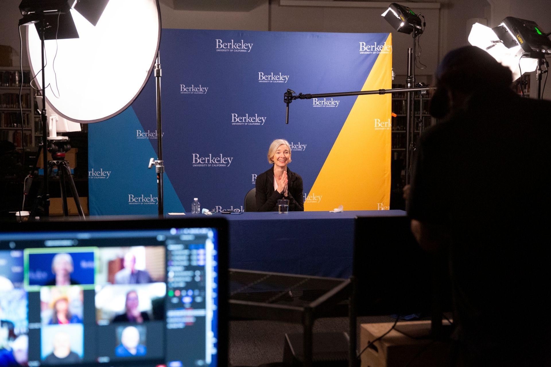 Jennifer Doudna at UC Berkeley Nobel press conference