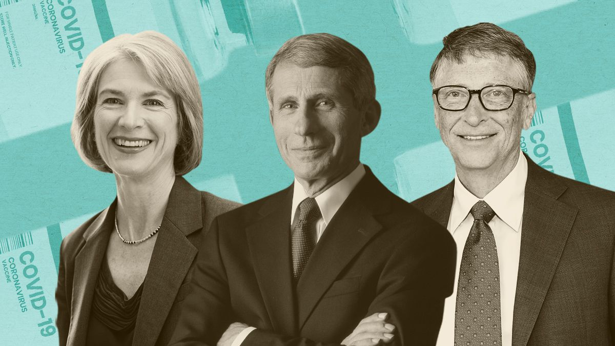 Jennifer Doudna, Dr. Anthony Fauci, and Bill Gates