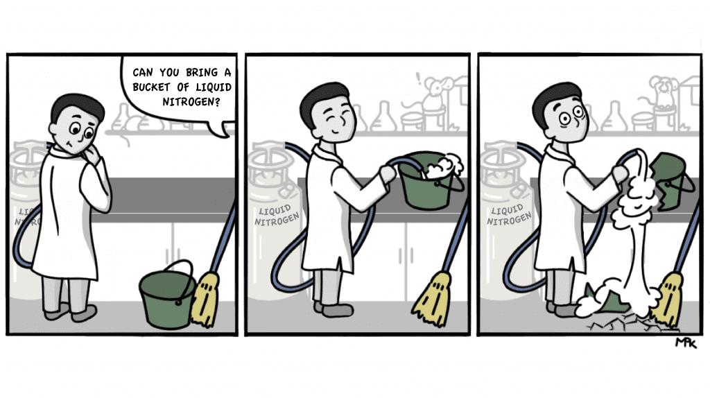 comic depicting Niren Murthy