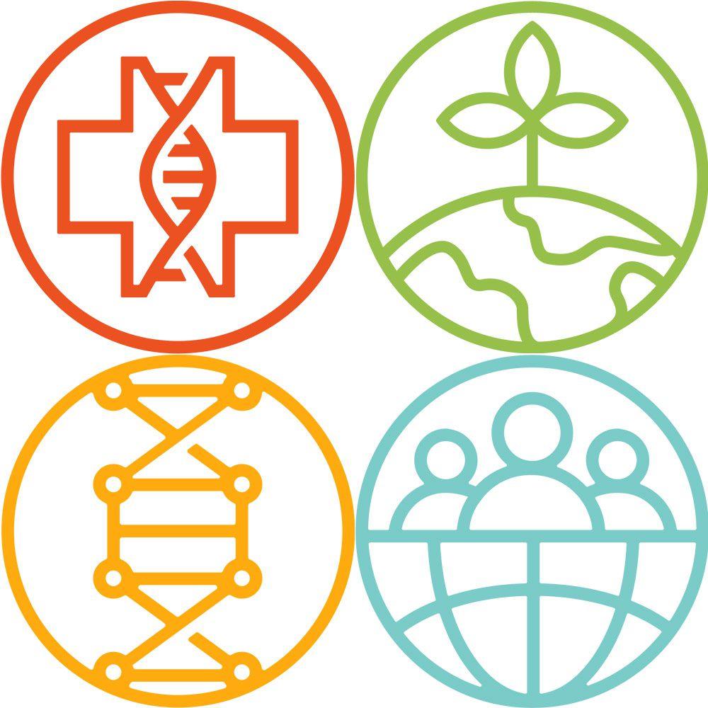 Program Area logos in a quadrant
